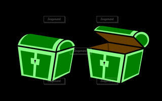 宝箱(緑)の写真・画像素材[4804192]