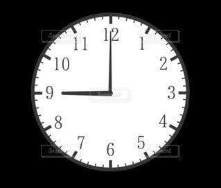 9時(21時)の時計の写真・画像素材[4805506]