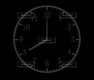 8時(20時)の時計シルエットの写真・画像素材[4805509]