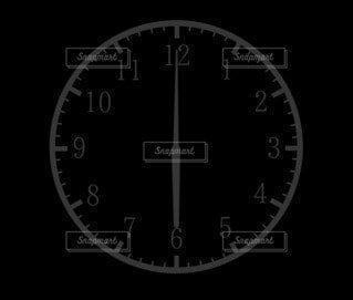 6時(18時)の時計シルエットの写真・画像素材[4805514]