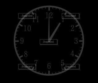 1時(13時)の時計の写真・画像素材[4805522]