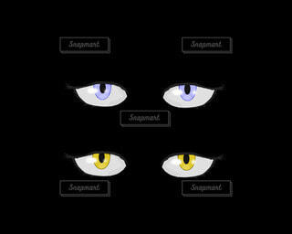 青い目と黄色の目のパーツの写真・画像素材[4811530]