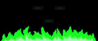 緑の炎のラインの写真・画像素材[4872646]