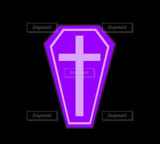 棺_棺桶(紫)の写真・画像素材[4872662]