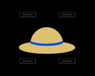 麦わら帽子(青)の写真・画像素材[4872680]
