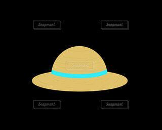麦わら帽子(水色)の写真・画像素材[4872682]