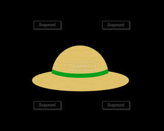 麦わら帽子(緑)の写真・画像素材[4872683]
