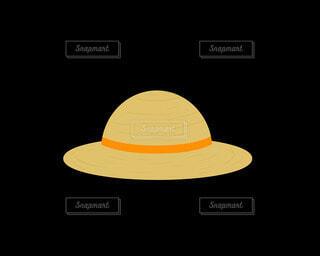 麦わら帽子(オレンジ)の写真・画像素材[4872681]