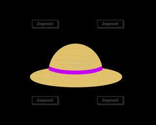 麦わら帽子(赤)の写真・画像素材[4872687]