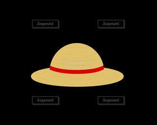 麦わら帽子(赤)の写真・画像素材[4872686]
