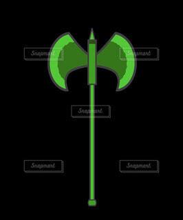 斧_戦斧(緑)の写真・画像素材[4962349]