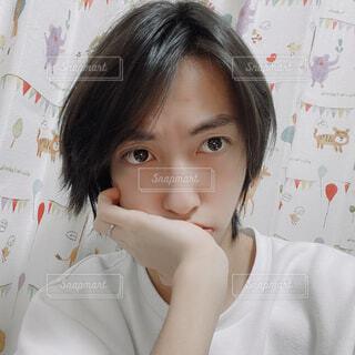 自撮り男性の写真・画像素材[4280022]