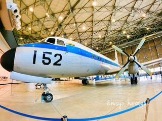 あいち航空ミュージアムに展示されているジャンボ航空機の写真・画像素材[4387558]