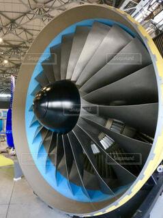 航空機のエンジンの写真・画像素材[4389094]