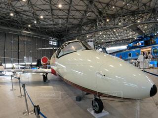 あいち航空ミュージアムに展示されている航空機の写真・画像素材[4389090]