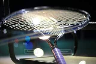 テニスラケットの写真・画像素材[4808887]
