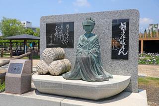 水郷潮来あやめ園 潮来花嫁さんの碑の写真・画像素材[4565138]