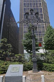 東京市道路元標と日本国道路元標のレプリカの写真・画像素材[4616489]