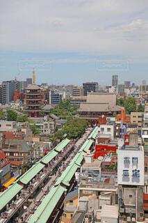 浅草寺 本堂と仲見世通りの写真・画像素材[4717887]
