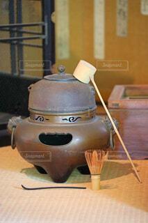 茶釜と茶道具の写真・画像素材[4763177]