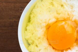 卵かけご飯のアップの写真・画像素材[4232237]