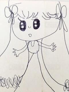 5歳の女の子が描いた憧れのお姉さんの写真・画像素材[4730442]