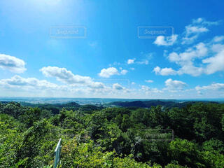 多峰主山の山頂から見た景色(埼玉県飯能市)の写真・画像素材[4464911]