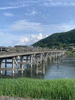 京都嵐山、渡月橋の写真・画像素材[4556020]