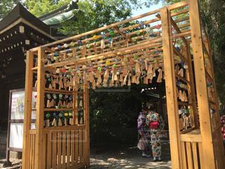 風鈴 神社の写真・画像素材[1321680]
