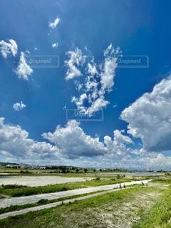 抜けるような5月の青空の写真・画像素材[4378697]