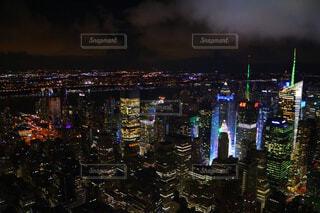 夜の都市の眺めの写真・画像素材[4238061]
