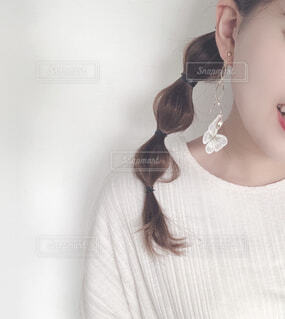 玉ねぎヘアの女の子の写真・画像素材[4251949]