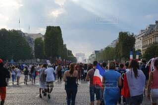 デモ行進を行う群衆の写真・画像素材[4254483]