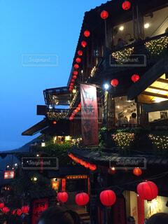 台湾、九份の空の写真・画像素材[4255145]