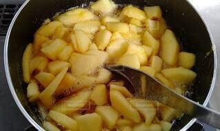 りんごジャム3の写真・画像素材[4256195]
