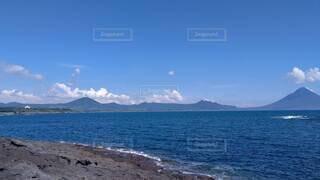 海と山の写真・画像素材[4259040]