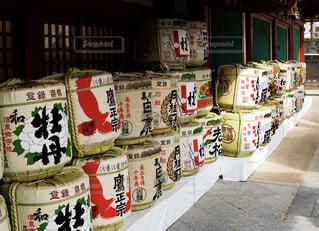 神社で見かけた酒樽の写真・画像素材[4258944]