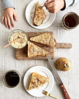 きな粉餅トースト 朝食の写真・画像素材[4260400]