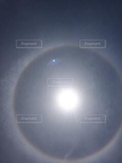 日暈の写真・画像素材[4269372]
