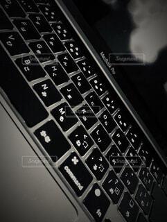 コンピュータキーボードのクローズアップの写真・画像素材[4307106]
