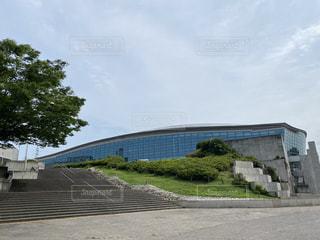 横浜国際プールにての写真・画像素材[3636655]