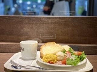 朝食のメニューの写真・画像素材[3676722]