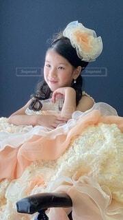 ドレスを着た女の子の写真・画像素材[4668494]