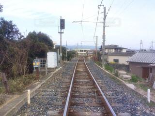 田舎を通る線路の写真・画像素材[4298493]