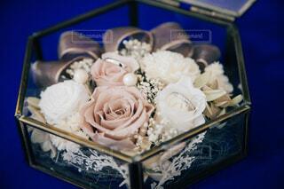 バラのリングピローの写真・画像素材[4541863]
