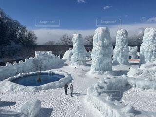 支笏湖の氷濤まつりの写真・画像素材[4300967]