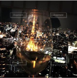 グラスの中の東京の写真・画像素材[4535510]