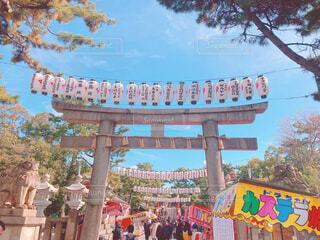 神社の屋台の写真・画像素材[4373241]