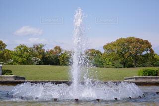 公園の噴水の写真・画像素材[4334646]
