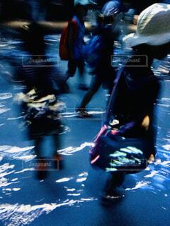 光と闇を追う子どもたちの写真・画像素材[4503410]